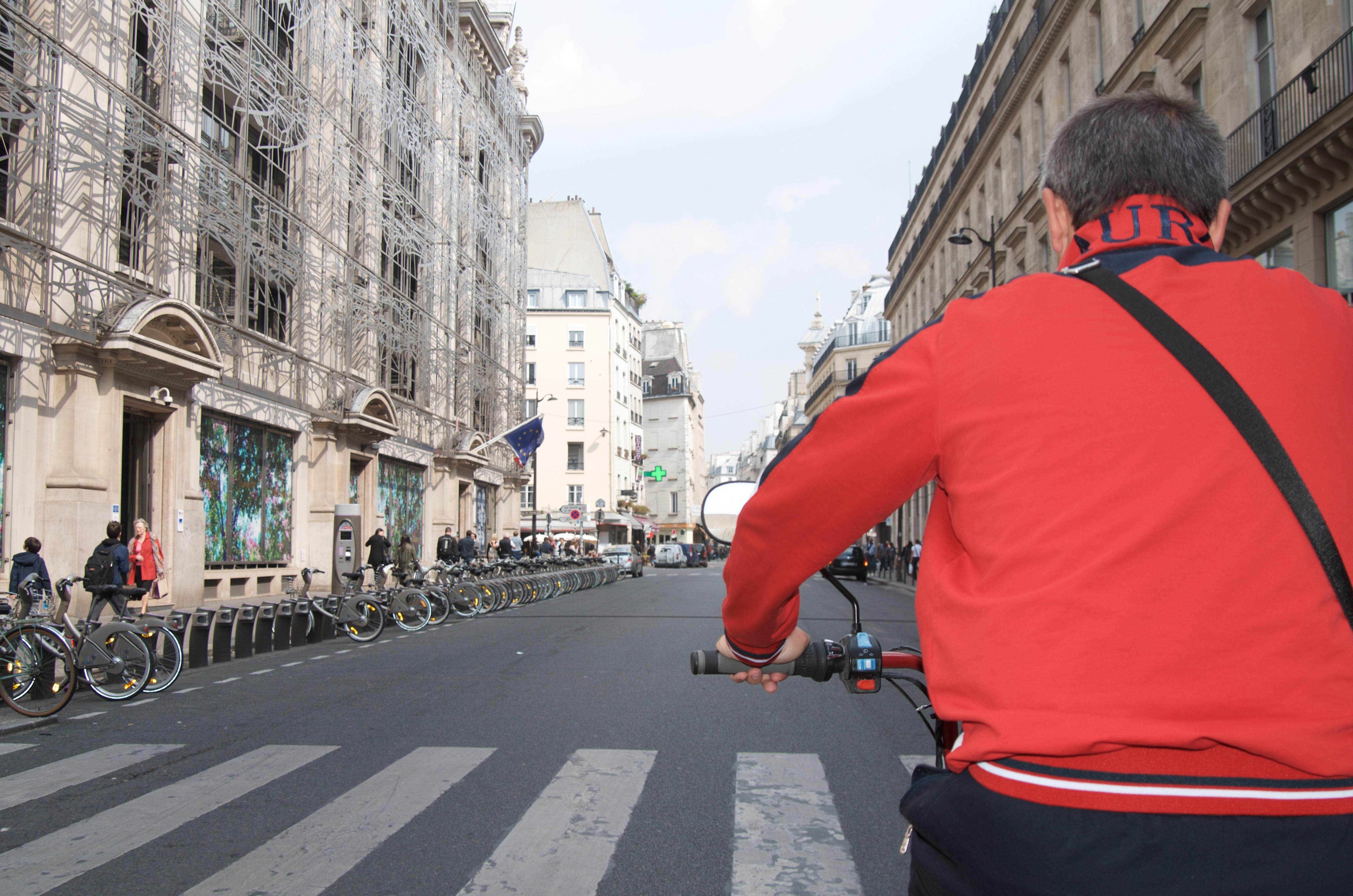 Bike taxi to Marais