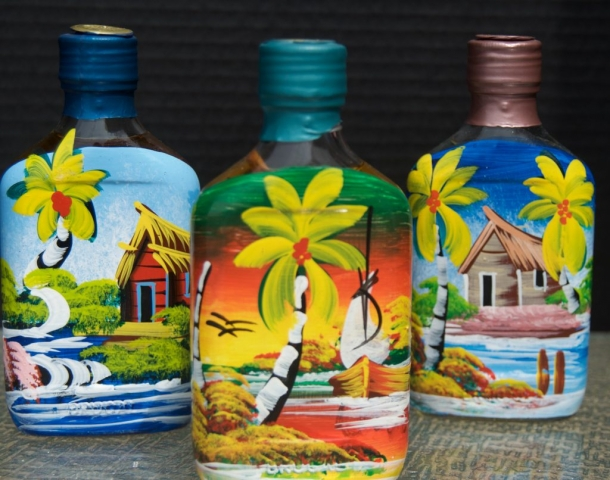 Pirate Rum Painted Bottles